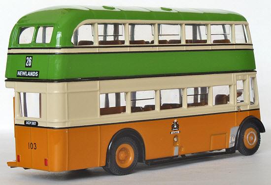 Efe Zone Model 16117 Halifax Corporation Leyland Titan Pd2 Highbridge Double Deck Bus