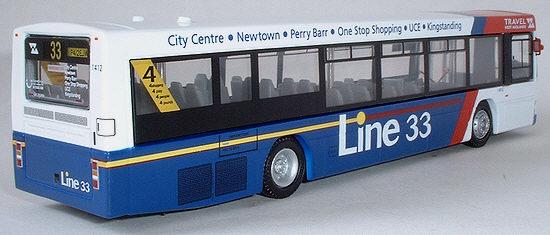 Efe Zone Model 27608 Travel West Midlands Wright Liberator Volvo B10l Low Floor Single Deck Bus