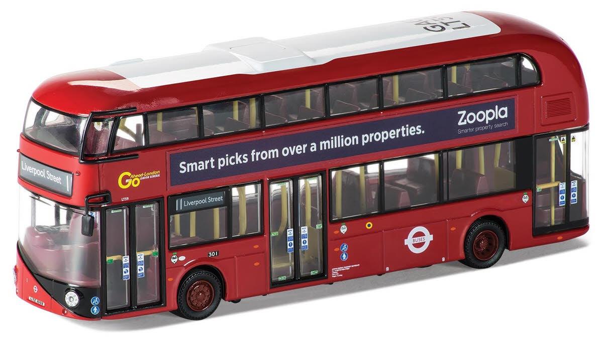 Model om46610a go ahead london new bus for london double decker